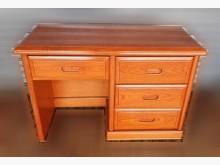 [8成新] 四抽木色書桌書桌/椅有輕微破損