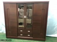 [9成新] 08028109 胡桃色推門衣櫃衣櫃/衣櫥無破損有使用痕跡