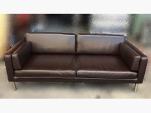 [8成新] A81701咖啡色大雙人牛皮沙發雙人沙發有輕微破損