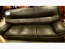 [9成新] 大台北二手傢俱-3人皮沙發雙人沙發無破損有使用痕跡
