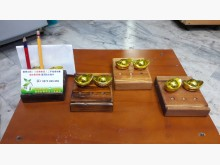 [全新] 手作松木~元寶名片座有四個可選收藏擺飾全新