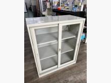 [9成新] 吉田二手傢俱❤玻璃三層公文櫃辦公櫥櫃無破損有使用痕跡