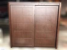 [9成新] B82426*胡桃色拉門衣櫃*衣櫃/衣櫥無破損有使用痕跡
