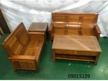 [9成新] 09015109 客廳木組椅木製沙發無破損有使用痕跡