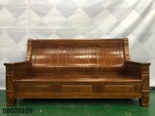 [9成新] 08020109 3人座木組椅木製沙發無破損有使用痕跡