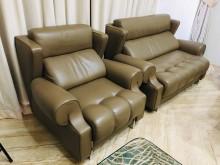 [9成新] 義大利原裝進口 真皮多功能沙發組多件沙發組無破損有使用痕跡