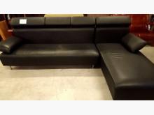[8成新] 大台北二手傢俱-L型皮沙發L型沙發有輕微破損