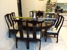 [8成新] 飄洋過海典雅紅木餐桌椅組其它古董家具有輕微破損
