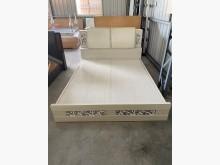 [9成新] 大慶二手家具 五尺造型白彩床組雙人床架無破損有使用痕跡