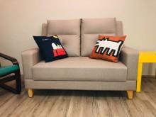 [95成新] 幾乎全新★高背舒適★貓抓皮易清潔雙人沙發近乎全新