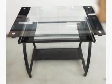 [9成新] E91313*玻璃電腦桌*電腦桌/椅無破損有使用痕跡