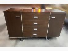 [95成新] V90906*胡桃色餐櫃碗盤櫥櫃近乎全新