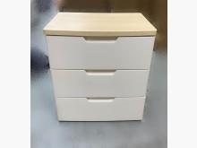 [95成新] B90907*白色木紋三抽收納櫃收納櫃近乎全新