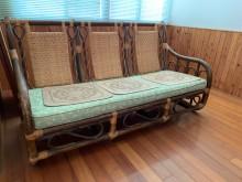 [9成新] 二手籐沙發(需自取)籐製沙發無破損有使用痕跡