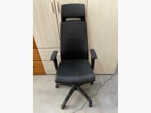 [9成新] 大慶二手家具 黑色半牛皮辦公椅電腦桌/椅無破損有使用痕跡
