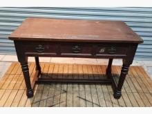 [7成新及以下] 古早味三抽書桌書桌/椅有明顯破損