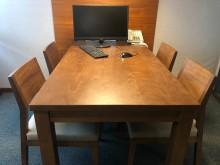 [9成新] 保存良好二手會議桌椅,可當餐桌會議桌無破損有使用痕跡