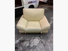 [9成新] 3.8尺單人乳白色皮製沙發單人椅單人沙發無破損有使用痕跡