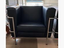 [9成新] (二手)黑皮單人沙發單人沙發無破損有使用痕跡