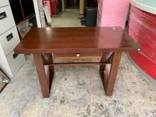 [9成新] 香榭二手家具*古典胡桃木4尺書桌書桌/椅無破損有使用痕跡