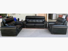 [9成新] 牛皮沙發組 1+2+3黑色沙發多件沙發組無破損有使用痕跡