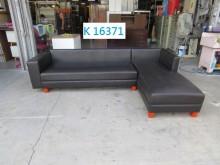 [8成新] K16371 塑料皮面 L型沙發L型沙發有輕微破損
