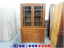 [9成新] 權威二手傢俱/柚木上下座書櫃書櫃/書架無破損有使用痕跡