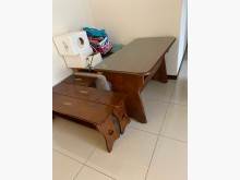 [8成新] 實木餐桌椅餐桌椅組有輕微破損