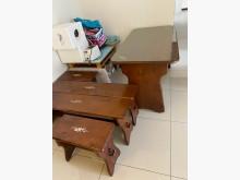 [8成新] 梨花木桌椅 (送耐磨玻璃)其它桌椅有輕微破損