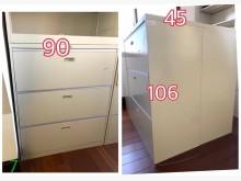 [9成新] 二手三層抽屜櫃辦公櫥櫃無破損有使用痕跡
