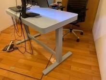 [9成新] Costco可調式電動升降桌電腦桌/椅無破損有使用痕跡