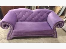 [9成新] 【尚典】紫色雅致兩人布沙發雙人沙發無破損有使用痕跡