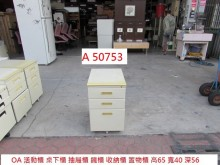[9成新] A50753 OA活動櫃 桌下櫃辦公櫥櫃無破損有使用痕跡