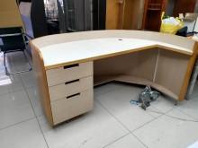 [8成新] 超便宜出清-秘書桌,使用狀況良好書桌/椅有輕微破損