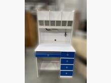 [9成新] E101103*藍白色書桌*書桌/椅無破損有使用痕跡
