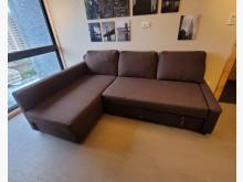 [9成新] 超值三人座L型沙發床IkeaL型沙發無破損有使用痕跡