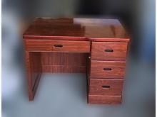 [9成新] A10304*胡桃色4抽書桌 *書桌/椅無破損有使用痕跡