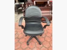 [9成新] 香榭家具*黑色皮革 有扶手辦公椅電腦桌/椅無破損有使用痕跡