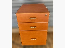 [8成新] 原木色三抽活動櫃辦公櫥櫃有輕微破損
