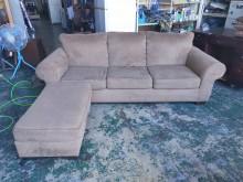 [9成新] 歐式緹花L型沙發椅*貴妃椅L型沙發無破損有使用痕跡
