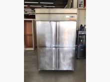 四門白鐵冰箱/冷藏冰箱/上凍下藏冰箱無破損有使用痕跡