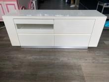 [9成新] 吉田二手傢俱❤白色鋼烤5尺電視櫃電視櫃無破損有使用痕跡