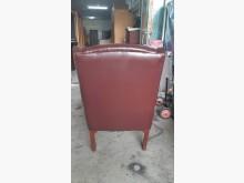 [9成新] 法式古董全牛皮卯釘單人沙發椅單人沙發無破損有使用痕跡