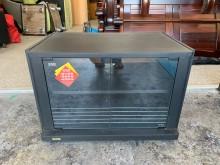 [9成新] 黑色2.3尺 玻璃門電視矮櫃電視櫃無破損有使用痕跡