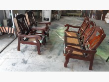 [9成新] 實木竹編5件式木沙發組木製沙發無破損有使用痕跡