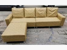 [9成新] 三合二手物流(精美L型皮沙發)L型沙發無破損有使用痕跡