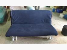 [9成新] 【尚典中古家具】藍色兩人座沙發床雙人沙發無破損有使用痕跡