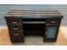 [8成新] 胡桃玻璃電腦桌書桌/椅有輕微破損