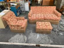 [9成新] 1+3宮廷風沙發組含輔助椅*二手多件沙發組無破損有使用痕跡