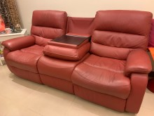 [9成新] 全皮頂級電動3人可躺式沙發雙人沙發無破損有使用痕跡